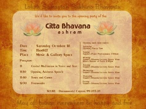 Citta Bhavana Opening Poster